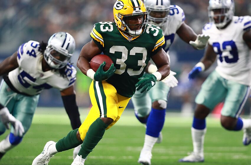 Image result for aaron jones packers