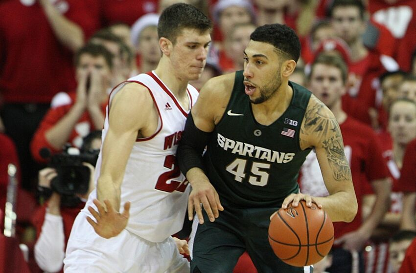 Image result for Wisconsin Badgers vs Michigan State Spartans live college basketball