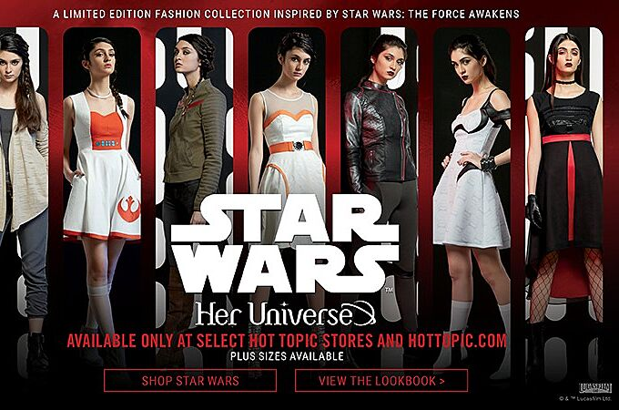 Hot Topic & Her Universe Debut Star Wars Fashions