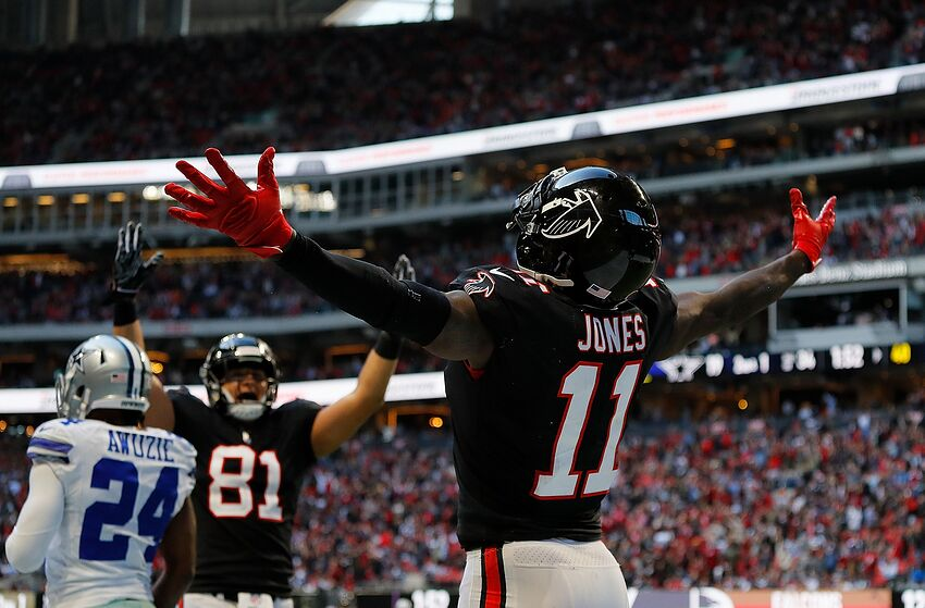 top-ten wide receivers Julio Jones
