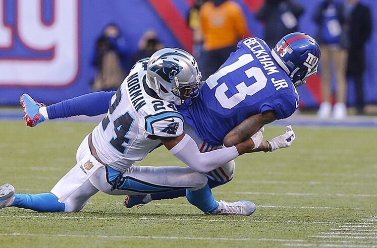 Odell Beckham Jr. Gets Blasted by Josh Norman For Cheap Hit 32889bb90
