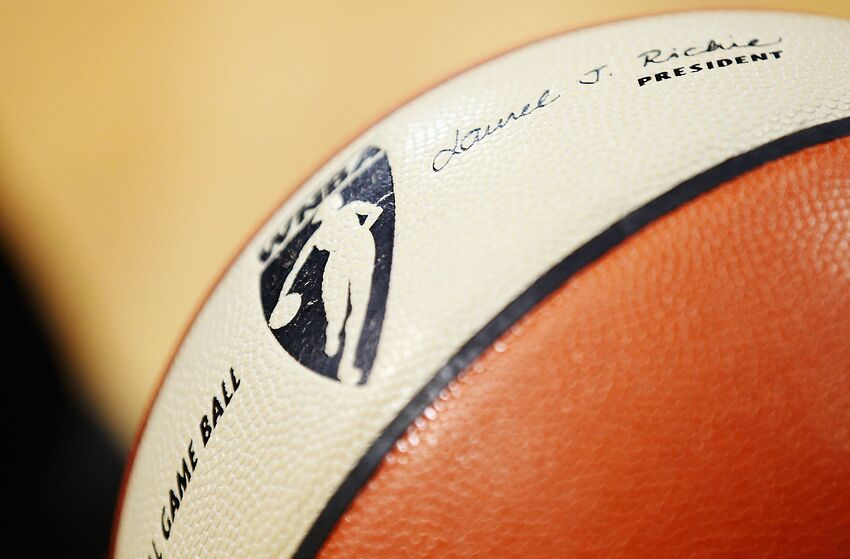 WNBA game ball, New York Liberty (Photo by Michael Hickey/Getty Images)