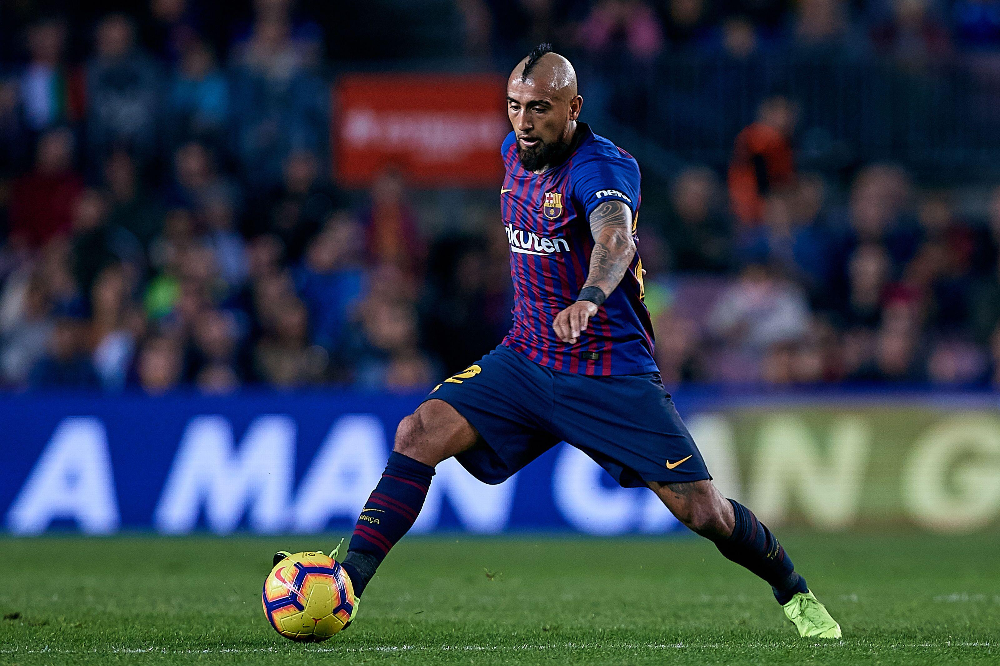 Barcelona Spain November  Arturo Vidal Of Fc Barcelona In Action During The