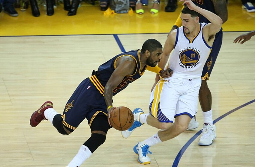 1967fe2c281b 2015 NBA Finals  Cavs Feel Kyrie Irving Is Done For Series