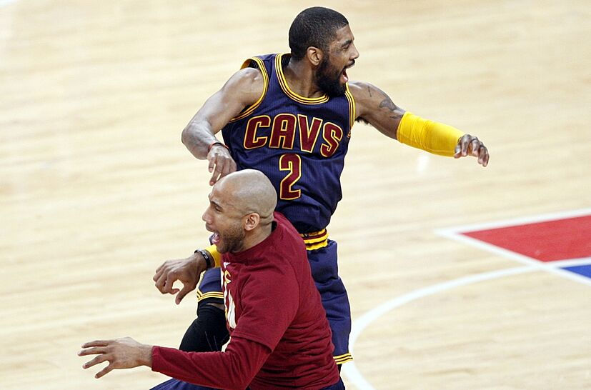 c6e0dd2f40e3 Watch  Kyrie Irving And Iman Shumpert Cut Loose At Practice