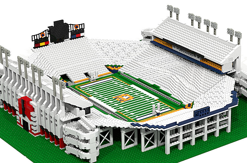 College Football Replica Stadiums Built Out Of Legos Photos