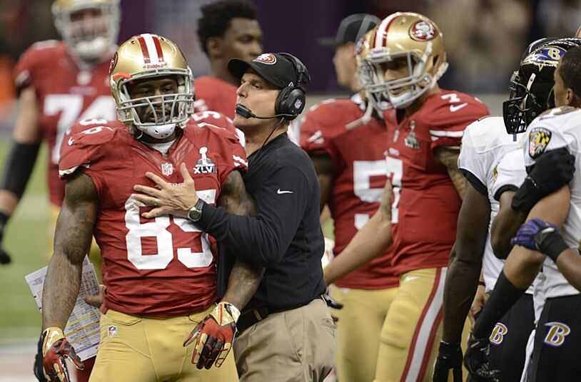 Jim Harbaugh disappointed in Vernon Davis 8baee272d