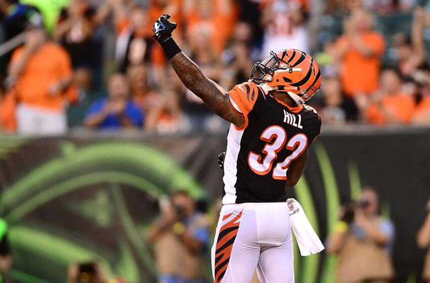 bc7bf25e Aug 28, 2014; Cincinnati, OH, USA; Cincinnati Bengals running back Jeremy