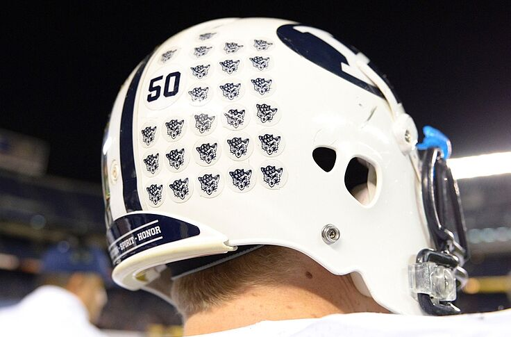 Byu Cougars Unveil Patriotic Themed Helmets For Game Against