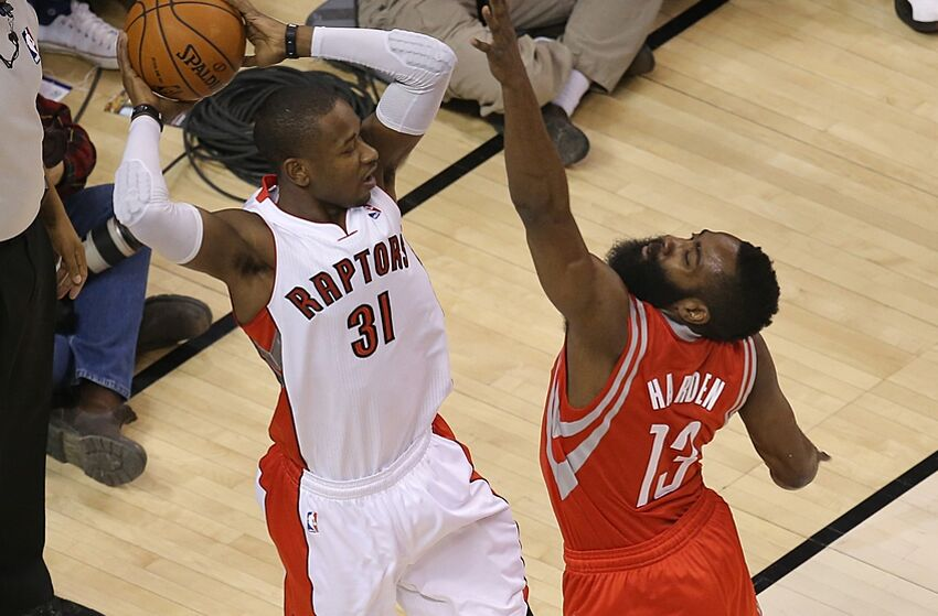 fc8a5e1050a Toronto Raptors  Terrence Ross worked out with James Harden