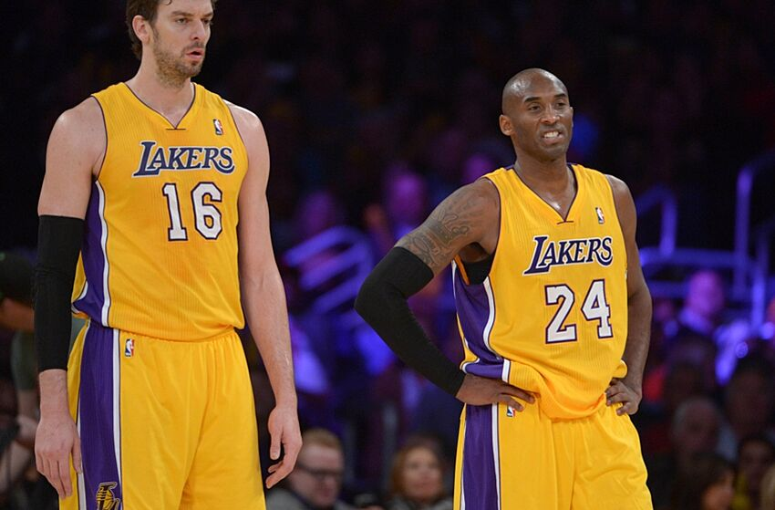 c684cb5b0 Los Angeles Lakers  guard Kobe Bryant wanted to retire with Pau Gasol but  instead Pau