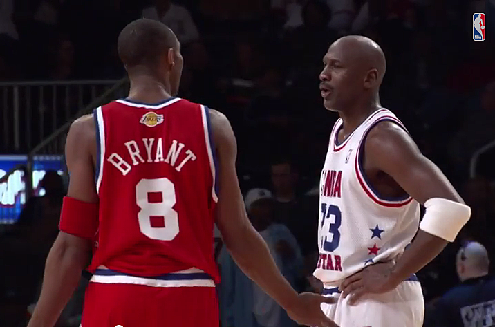 low priced 44a43 8ae22 Kobe Bryant and Michael Jordan trash talk from 2003 All-Star ...