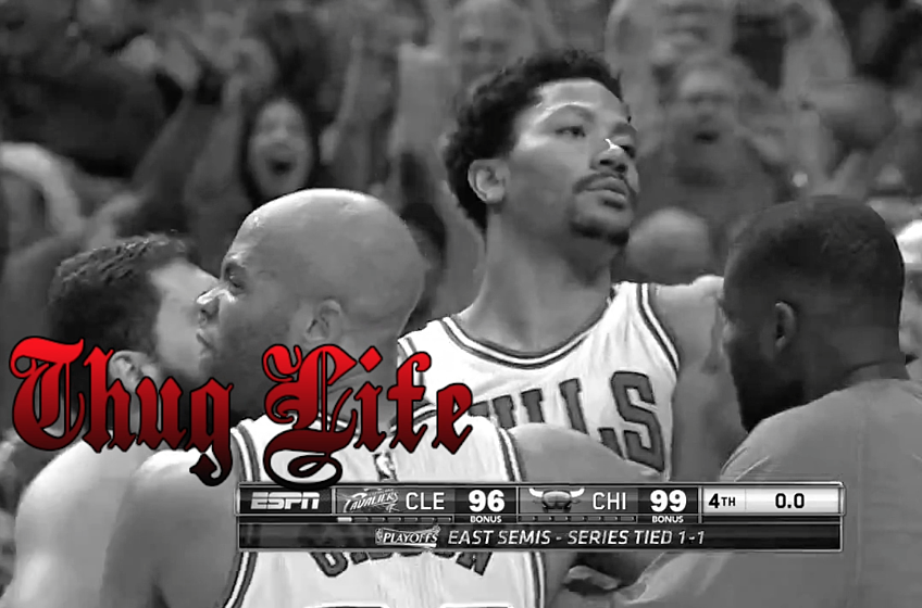 Derrick Rose s buzzer-beater gets the  Unexpected Thug Life  treatment. by  Mike Dyce 3 ... 3d11c8cf9