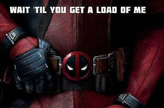 deadpool movie poster leaves much to the imagination
