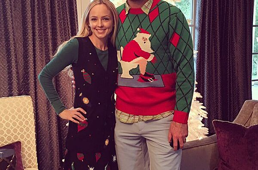 Patrick Marleau has a Santa dumping ugly Christmas sweater 0621c3ce7