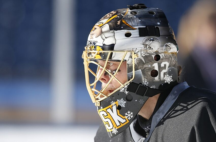 97abe1749 Tuukka Rask to sport Patriots-themed mask for the Winter Classic