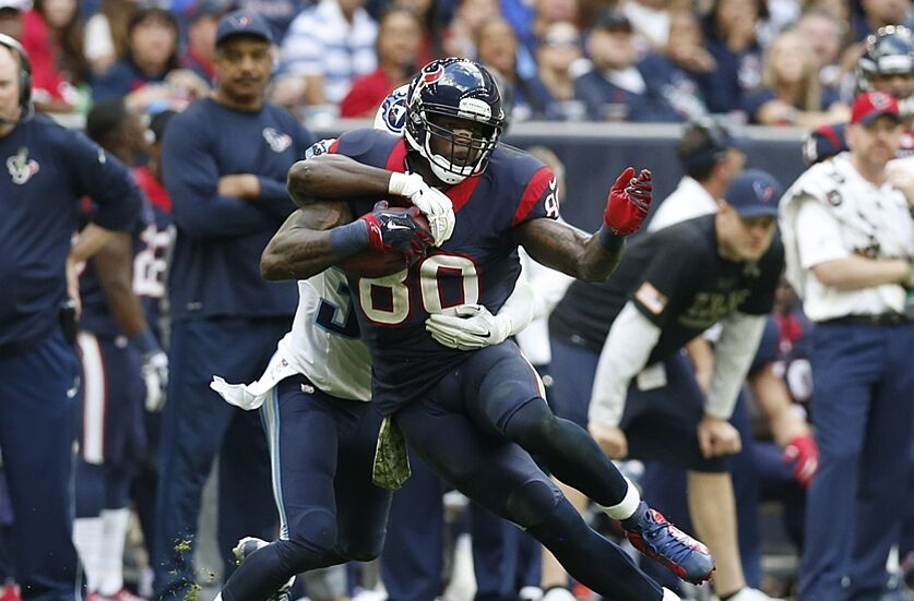 nov 30 2014 houston tx usa houston texans receiver andre johnson - Nfl On Christmas 2014