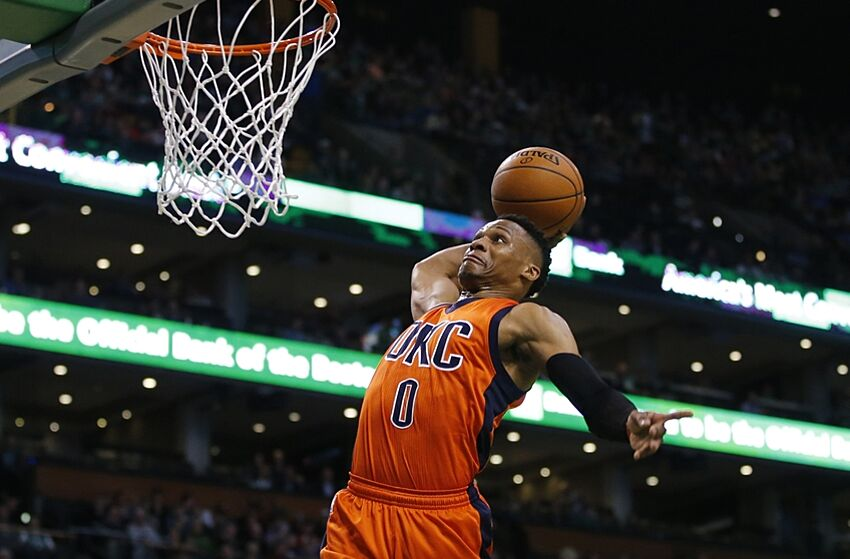 99b0549bdd9a Russell Westbrook annihilates Jerami Grant with dunk