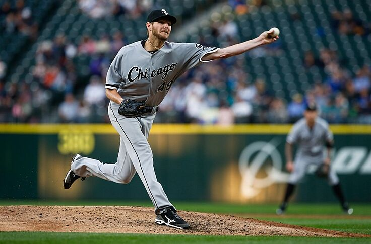 in stock 146d9 4fb3f White Sox fan wears Chris Sale-related throwback jersey