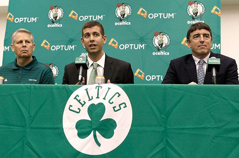 Jul 5, 2013; Waltham, MA, USA; Boston Celtics general manager Danny