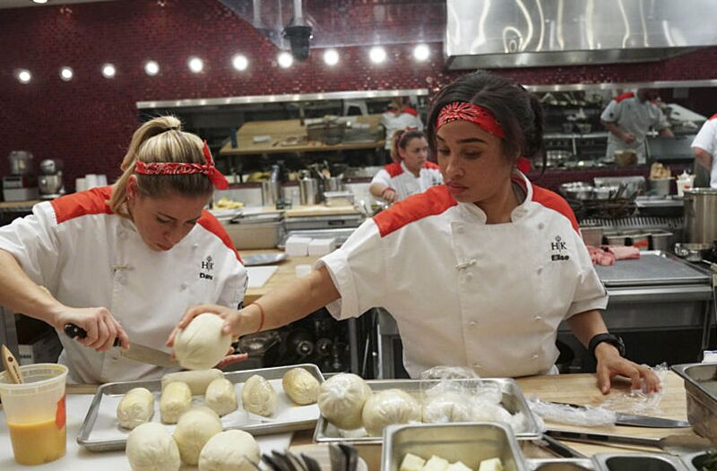 hells kitchen l r contestants dana and elise in the all new josh - Hells Kitchen Season 17