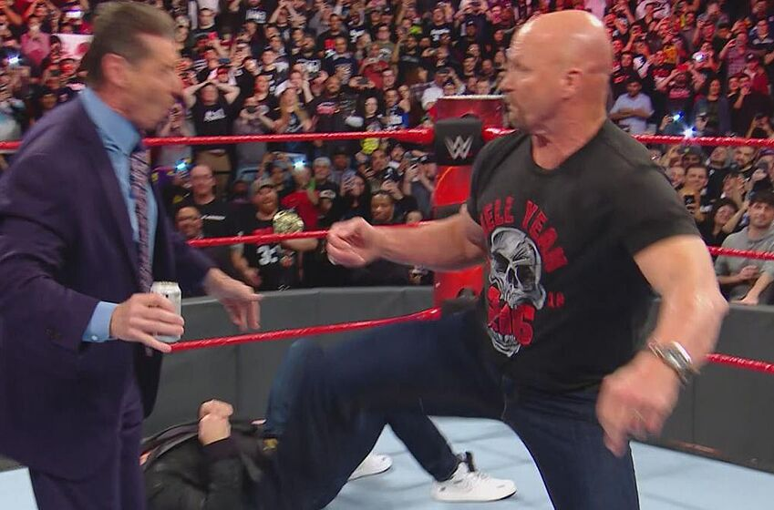 WWE RAW 25 Watch Stone Cold Steve Austin Return To Stun The McMahons