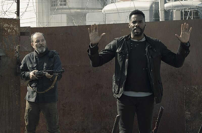 Colman Domingo as Victor Strand, Rubén Blades as Daniel Salazar- Fear the Walking Dead _ Season 5, Episode 2 - Photo Credit: Ryan Green/AMC