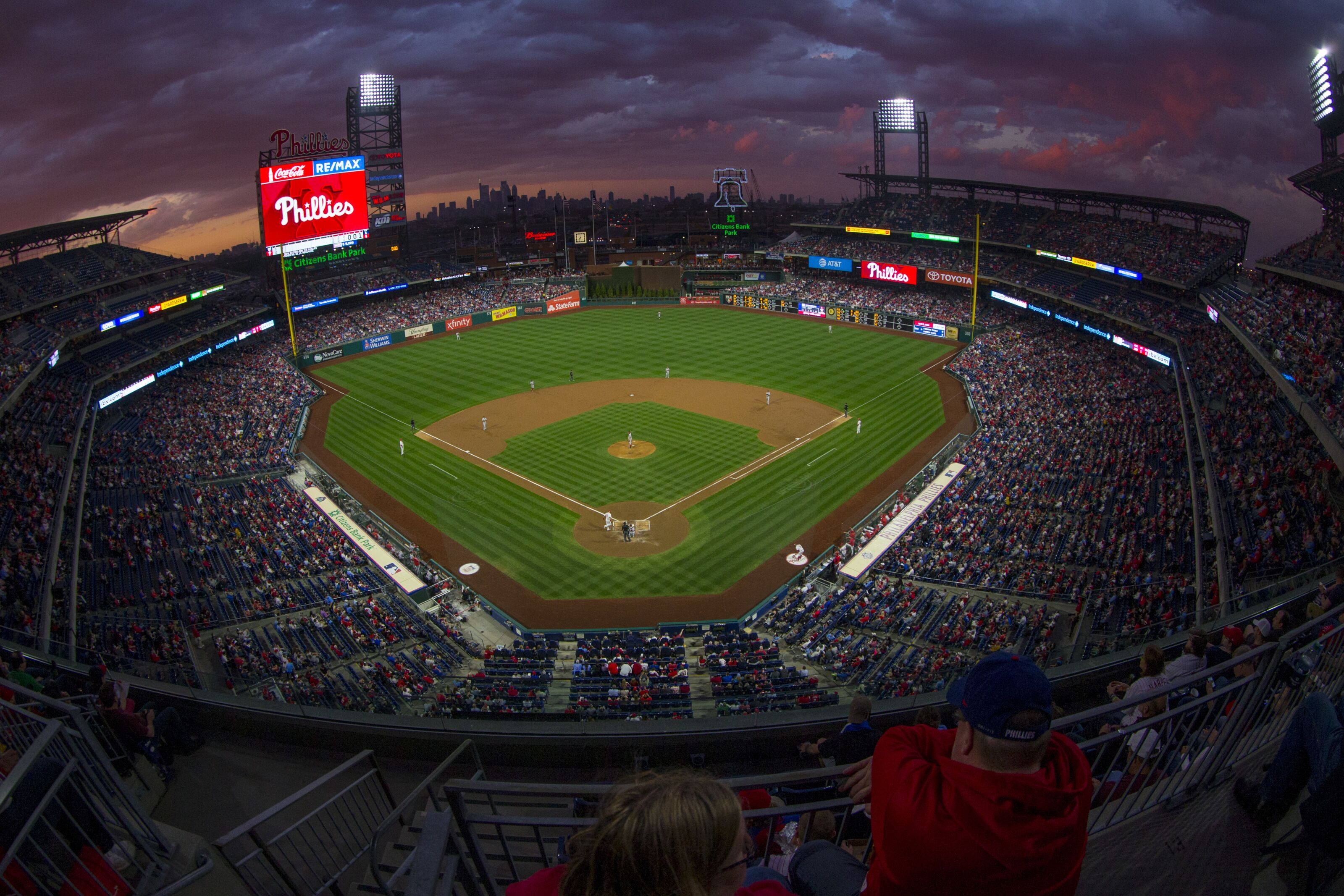 PHILADELPHIA, PA - APRIL 09: A general view of Citizens Bank Park during the game between the Washington Nationals and Philadelphia Phillies on April 9, 2019 in Philadelphia, Pennsylvania. (Photo by Mitchell Leff/Getty Images)