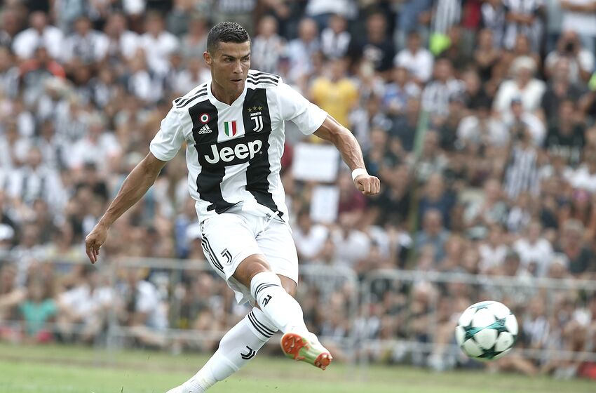 TOPSHOT - Juventus  forward from Portugal Cristiano Ronaldo scores a goal  during the friendly football 18c1b43da04