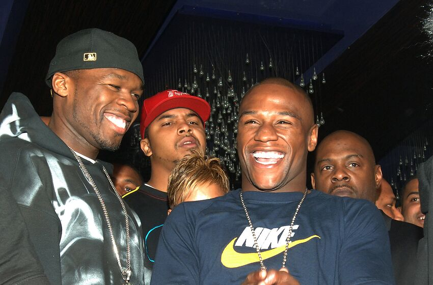 eace4dab2b2b6d 50 Cent and Floyd Mayweather Jr. during Floyd Mayweather Jr. s 30th Birthday