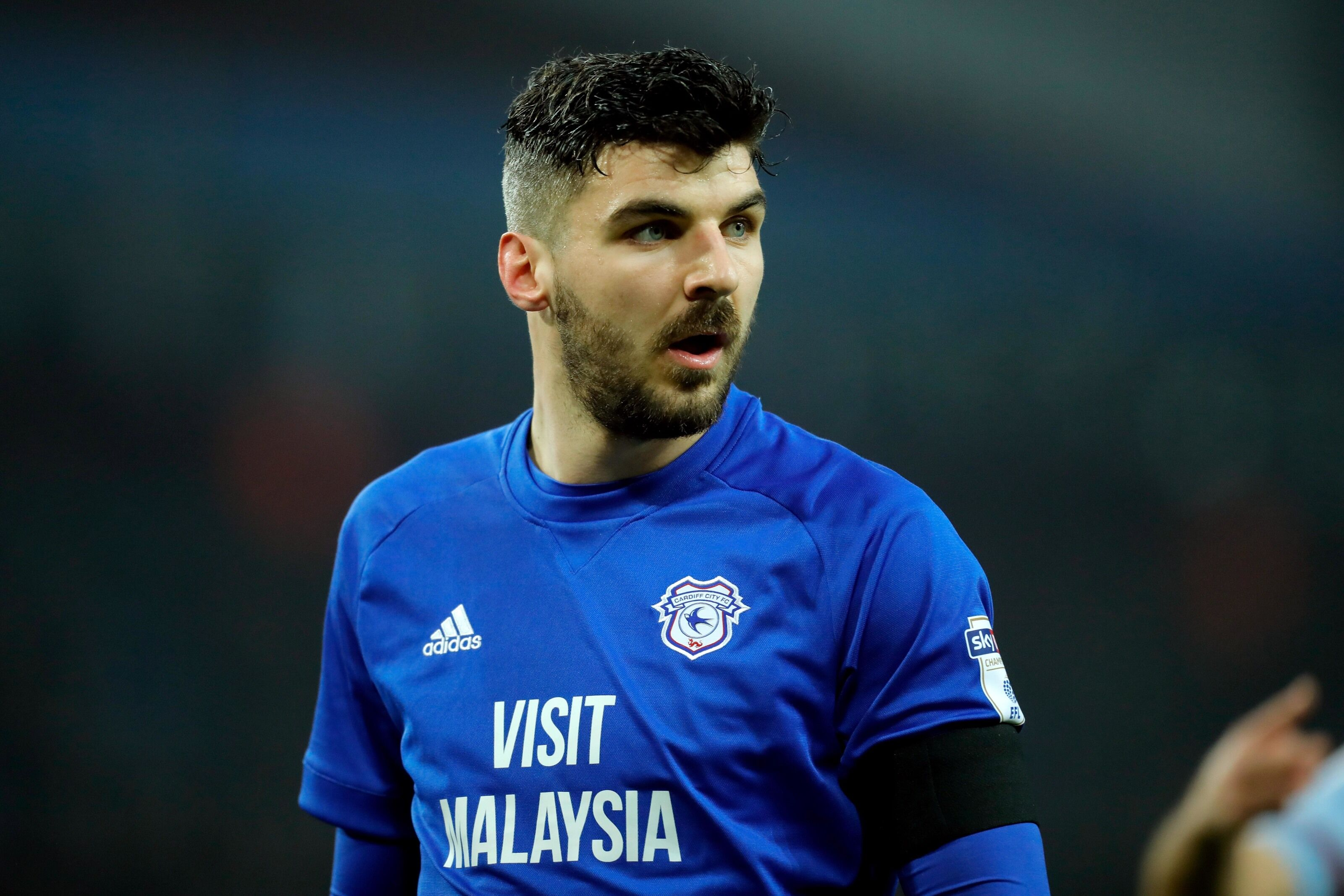 BIRMINGHAM, ENGLAND - APRIL 10: Callum Paterson of Cardiff City during the Sky Bet Championship match between Aston Villa and Cardiff City at Villa Park on April 10, 2018 in Birmingham, England. (Photo by Malcolm Couzens/Getty Images)