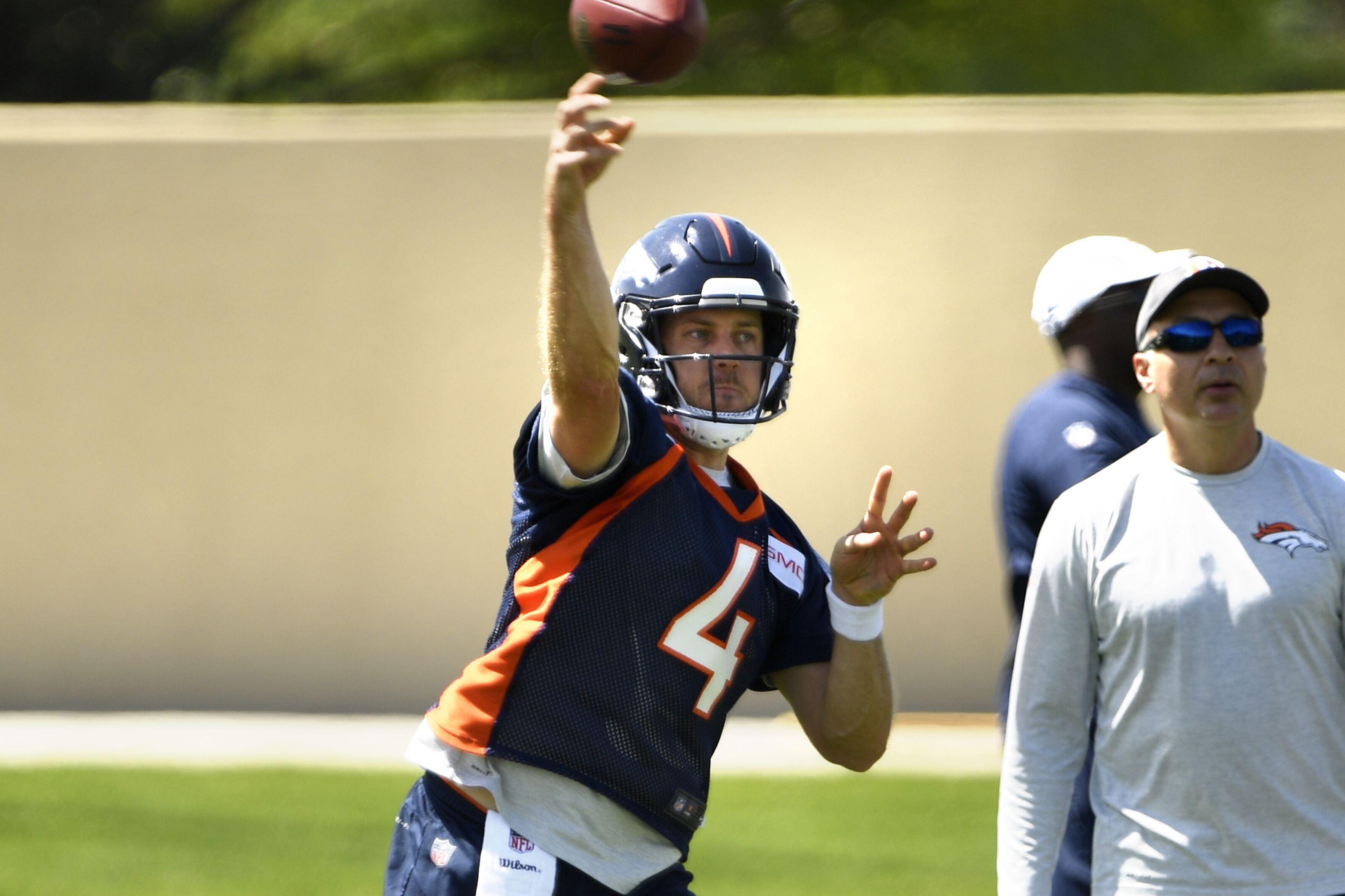 Englewood Co May 22 Denver Broncos Quarterback Case Keenum 4 On