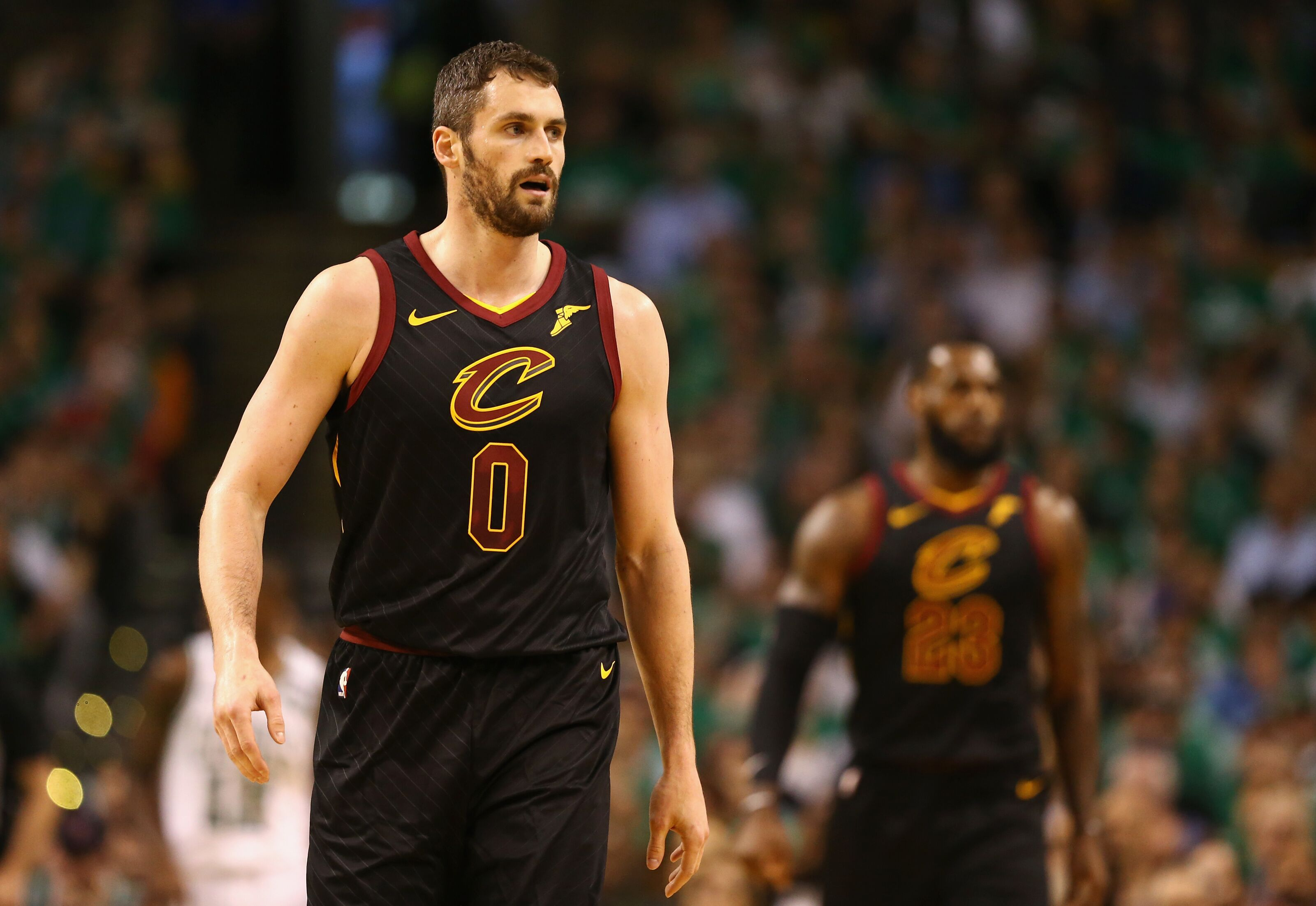 Boston Ma May  Kevin Love  Of The Cleveland Cavaliers Looks