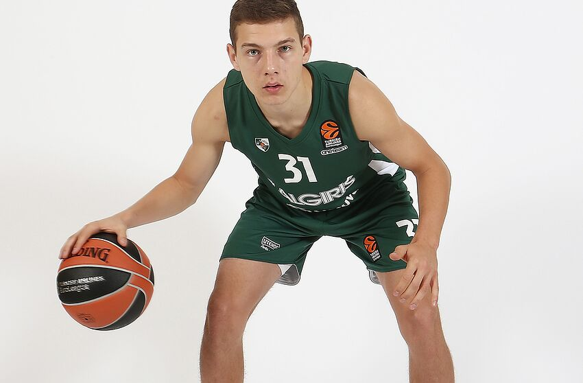 KAUNAS, LITHUANIA - SEPTEMBER 21: Rokas Jokubaitis, #31 of Zalgiris Kaunas poses during the Zalgiris Kaunas 2018/2019 Turkish Airlines EuroLeague Media Day at Zalgirio Arena on September 21, 2018 in Kaunas, Lithuania. (Photo by Alius Koroliovas/EB via Getty Images)