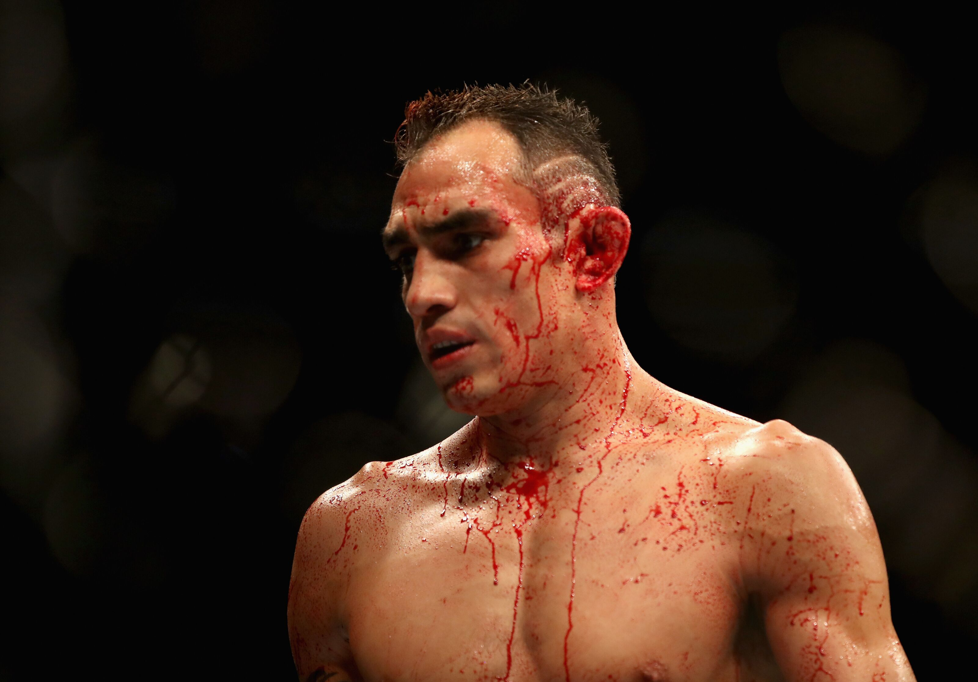 LAS VEGAS, NV - OCTOBER 06: Tony Ferguson looks on in his lightweight bout during the UFC 229 event inside T-Mobile Arena on October 6, 2018 in Las Vegas, Nevada. (Photo by Christian Petersen/Zuffa LLC/Zuffa LLC)