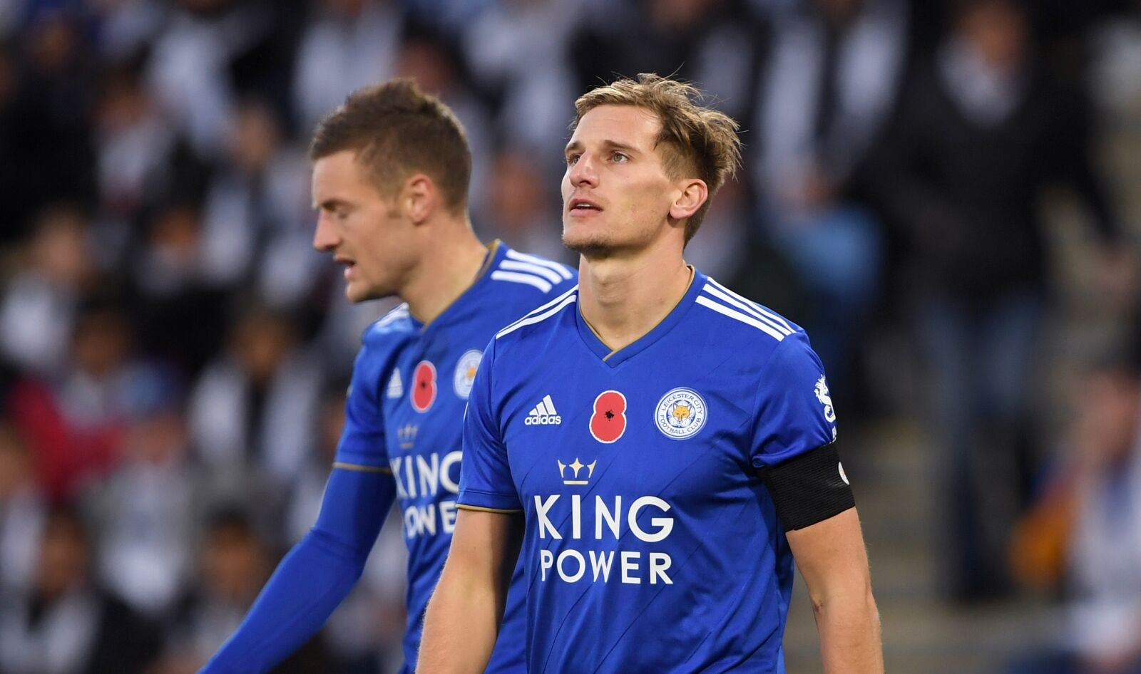 Leicester City's Marc Albrighton during the Premier League match at the King Power Stadium, Leicester. (Photo by Joe Giddens/PA Images via Getty Images)