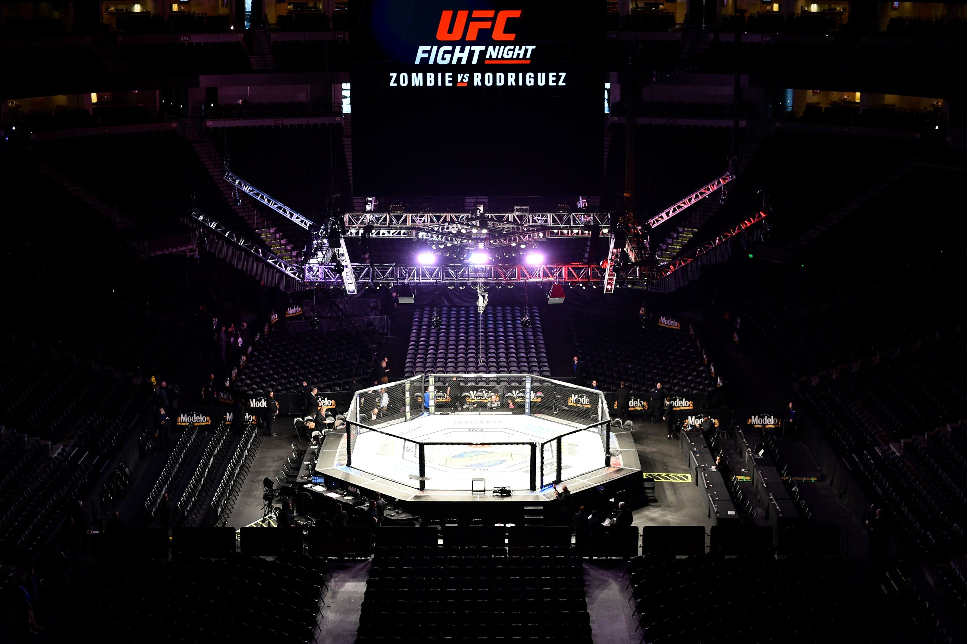 DENVER, CO - NOVEMBER 10: A general view of the Octagon prior to the UFC Fight Night event inside Pepsi Center on November 10, 2018 in Denver, Colorado. (Photo by Chris Unger/Zuffa LLC/Zuffa LLC via Getty Images)