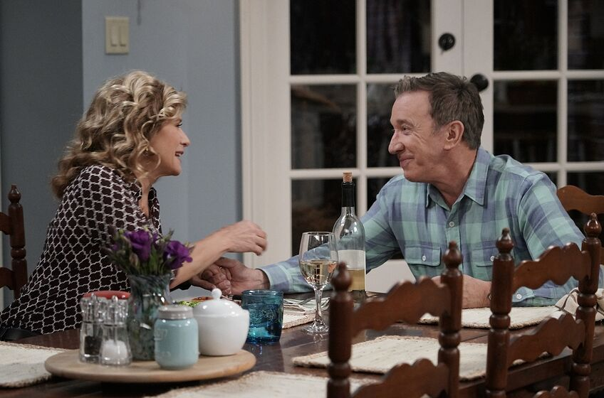 LAST MAN STANDING: L-R: Nancy Travis and Tim Allen in the all-new Dreams Vs. Reality episode of LAST MAN STANDING airing Friday, Nov. 16 (8:00-8:30 PM ET/PT) on FOX. (Photo by FOX via Getty Images)