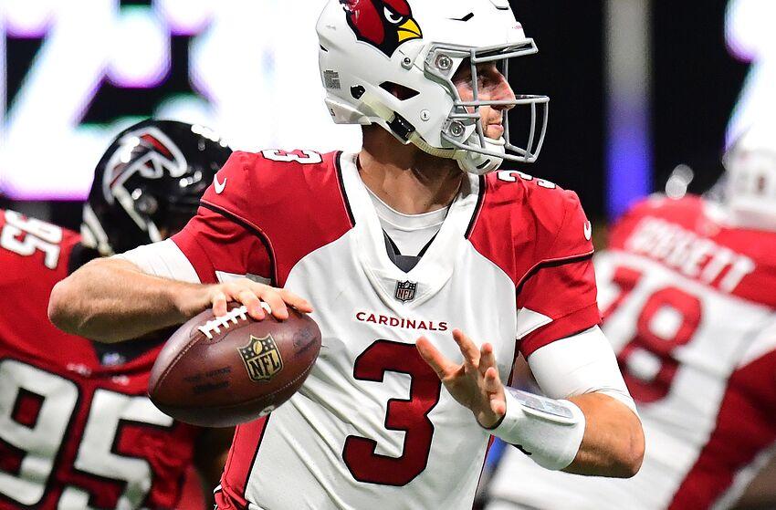 ATLANTA, GA - DECEMBER 16: Josh Rosen #3 of the Arizona Cardinals passes against the Atlanta Falcons at Mercedes-Benz Stadium on December 16, 2018 in Atlanta, Georgia. (Photo by Scott Cunningham/Getty Images)