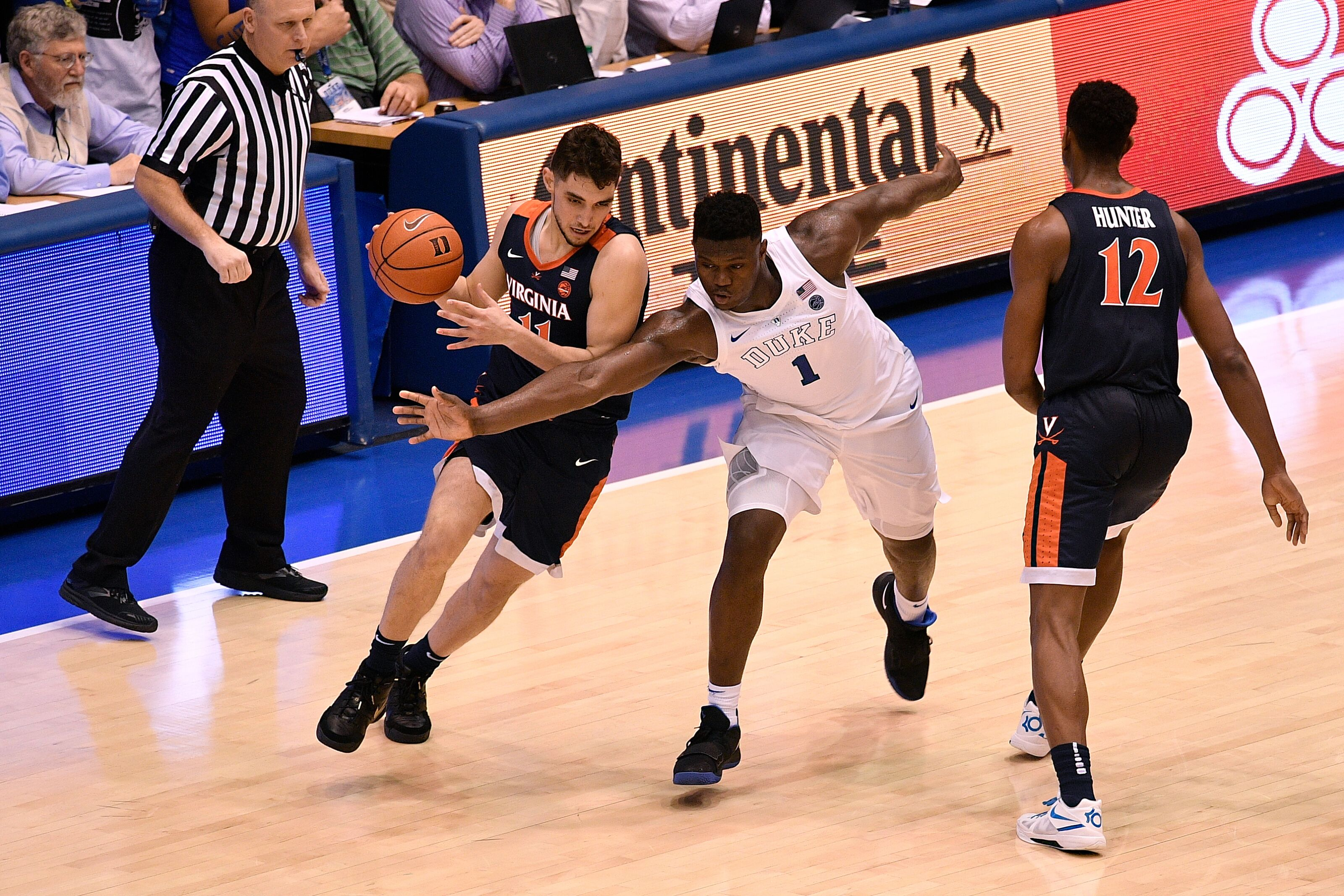 Durham Nc January 19 Ty Jerome 11 Of The Virginia Cavaliers Moves