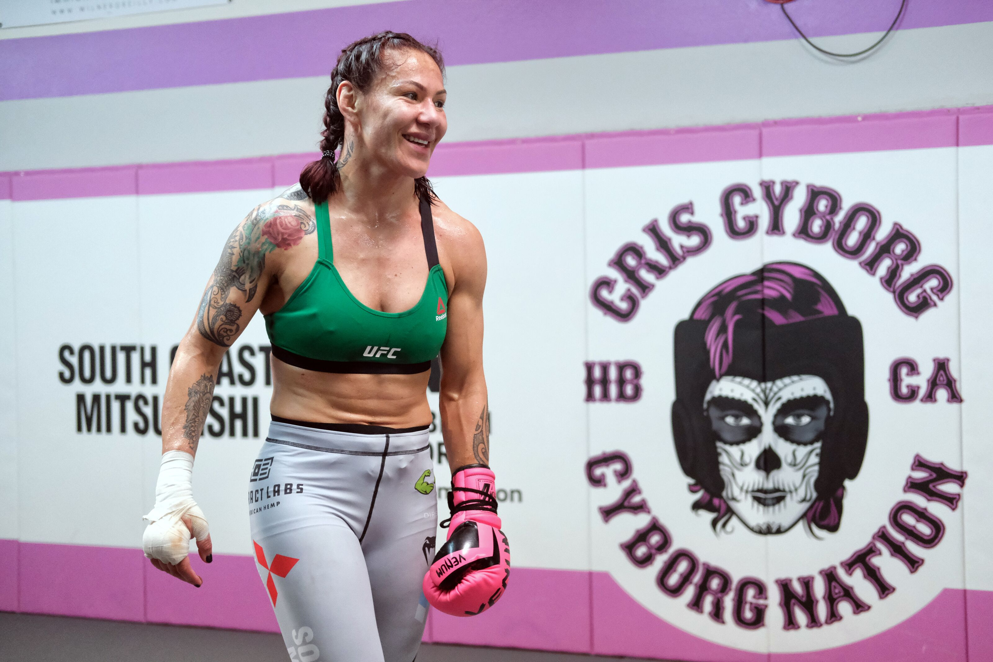 HUNTINGTON BEACH, CA - DECEMBER 12: UFC women's featherweight champion Cris Cyborg at her gym in Huntington Beach, Wednesday, Dec 12, 2018. (Photo by Hans Gutknecht/Digital First Media/Los Angeles Daily News via Getty Images)