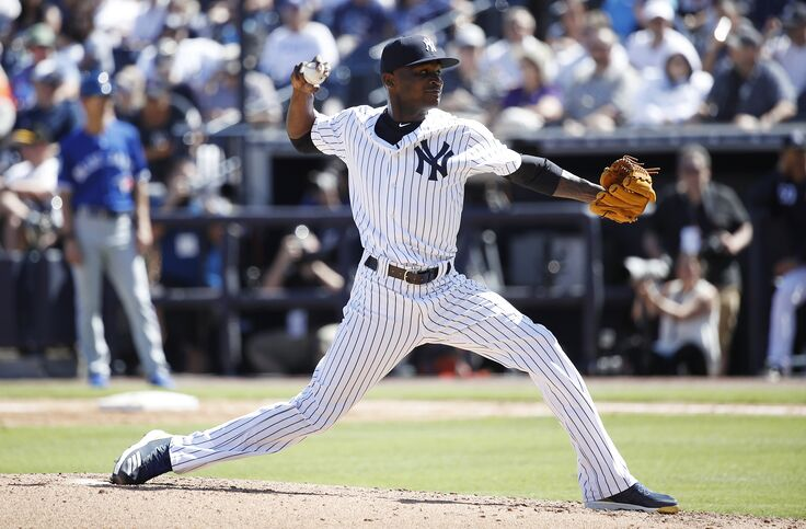 huge selection of 37b89 20bae Domingo German might have pitched way out of Yankees ...