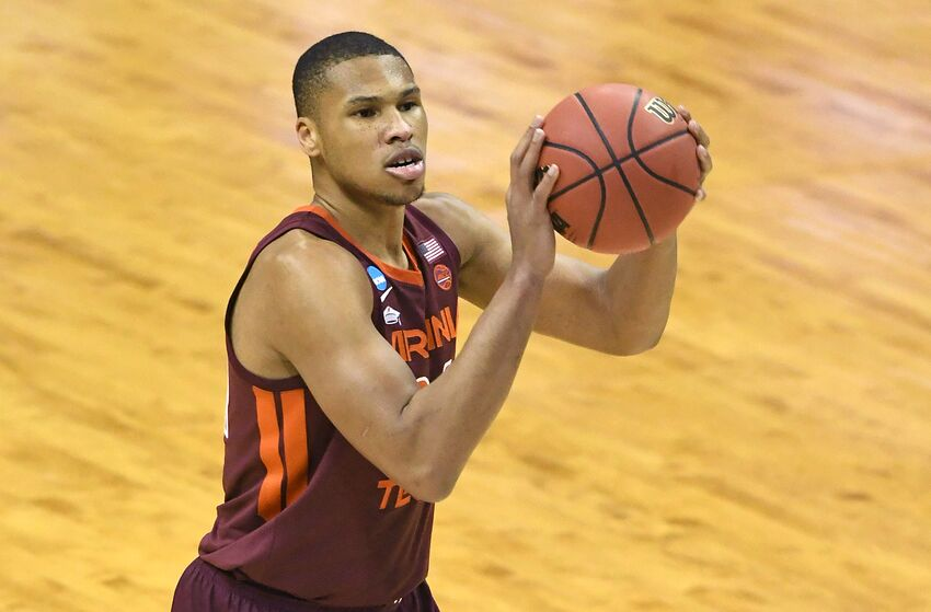 WASHINGTON, DC - MARCH 29: Kerry Blackshear Jr. #24 of the Virginia Tech Hokies takes a foul shot during the East Regional game of the 2019 NCAA Men's Basketball Tournament against the Duke Blue Devils at Capital One Arena on March 29, 2019 in Washington, DC. (Photo by Mitchell Layton/Getty Images)