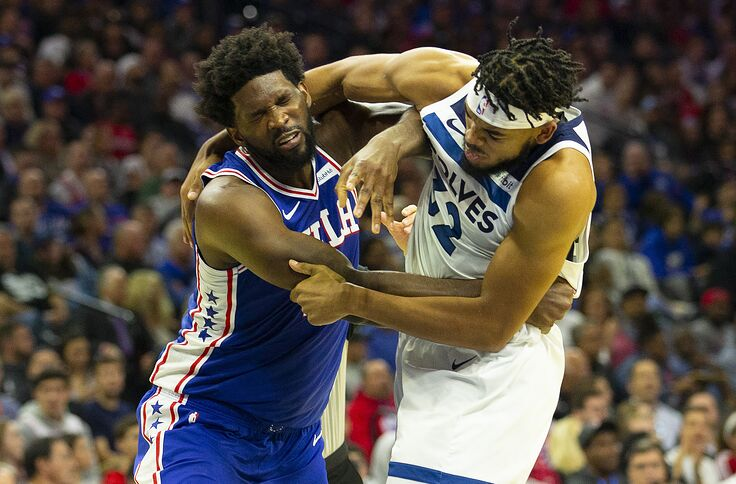 Joel Embiid Karl Anthony Towns Get Into Fight During Game