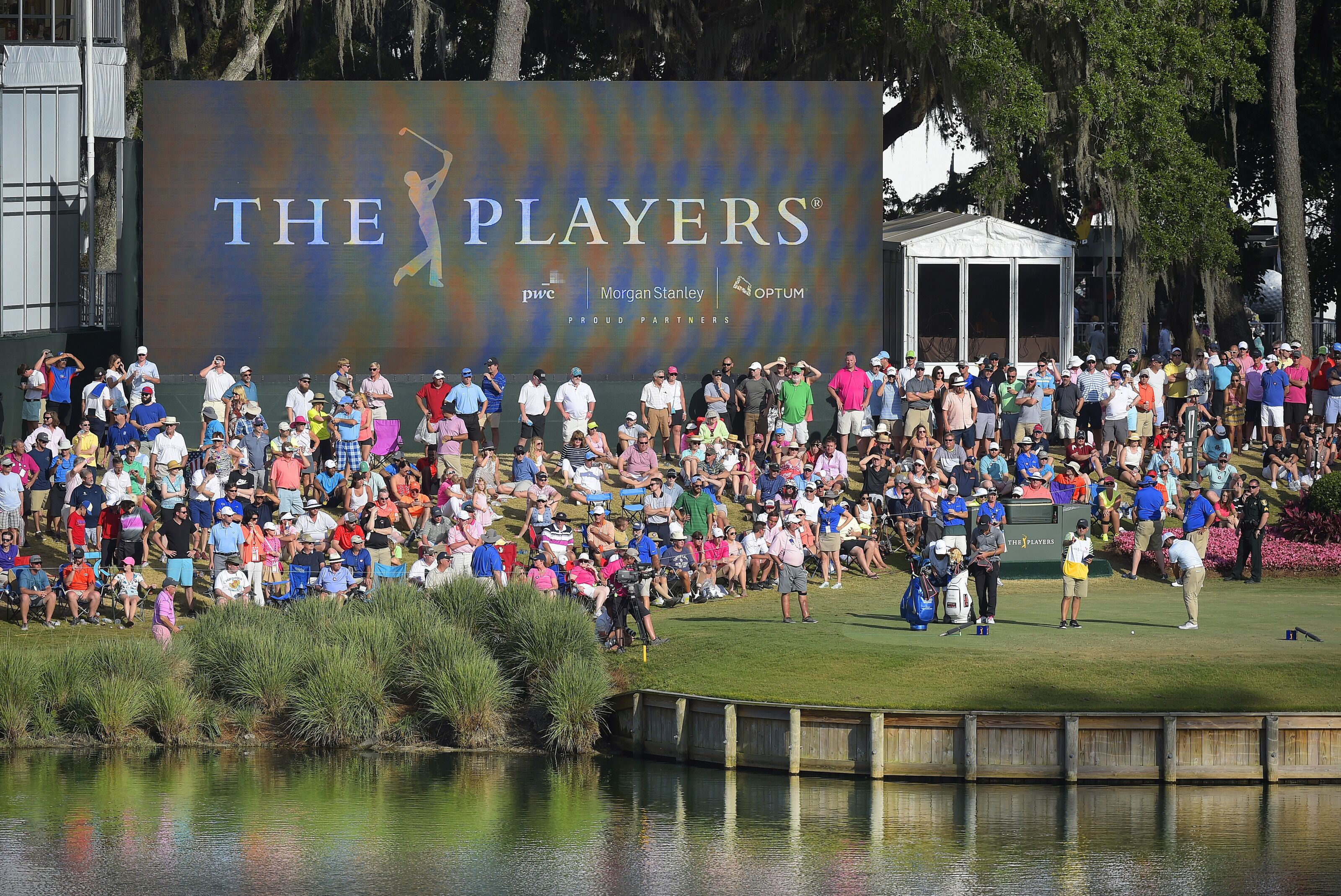 PONTE VEDRA BEACH, FL - MAY 15: A course scenic view of the 17th hole during the final round of THE PLAYERS Championship on THE PLAYERS Stadium Course at TPC Sawgrass on May 15, 2016. (Photo by Stan Badz/PGA TOUR)
