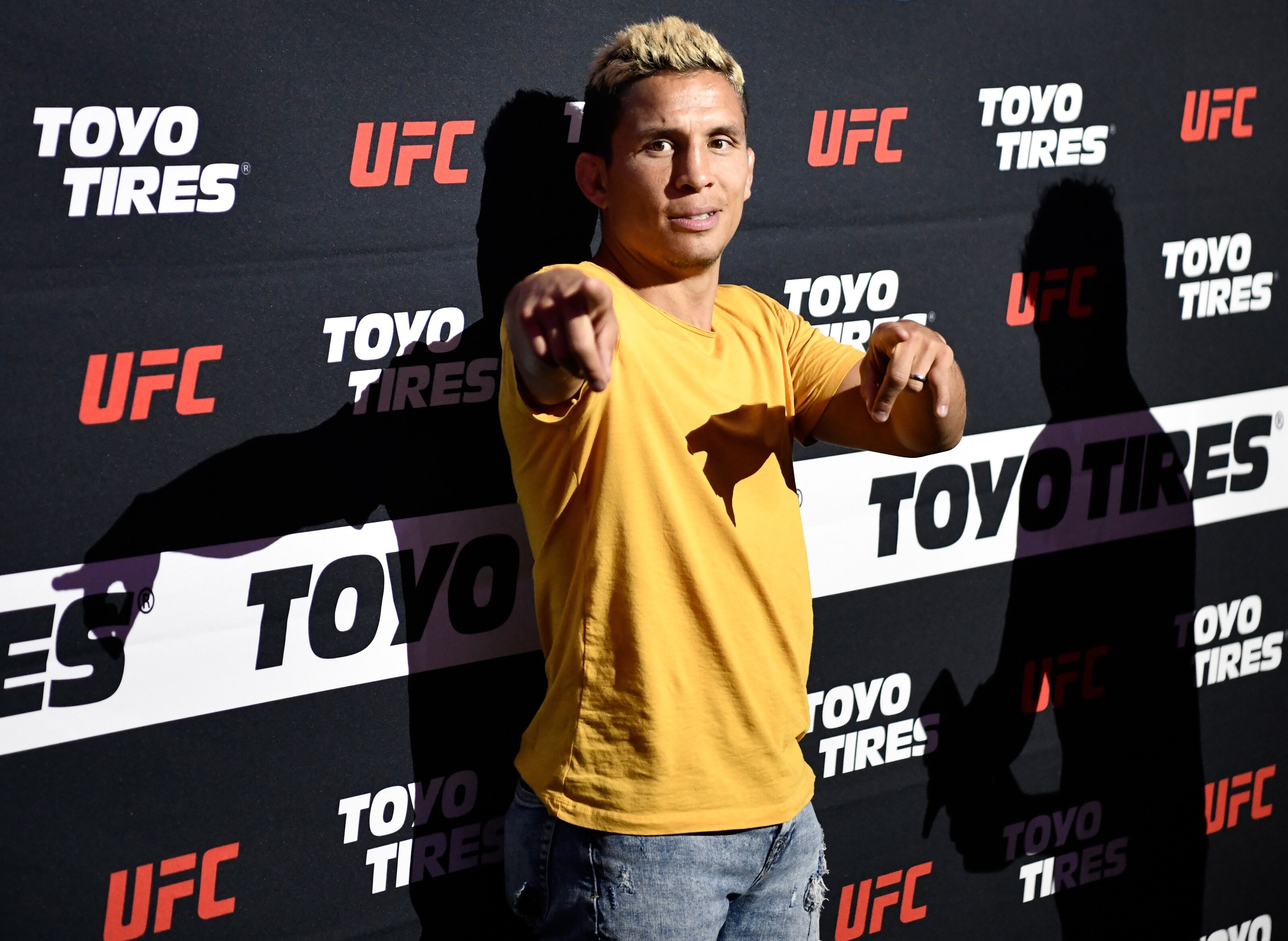 LAS VEGAS, NEVADA - JULY 07: UFC flyweight fighter Joseph Benavidez interacts with fans during the UFC Fan Experience at the Downtown Las Vegas Events Center on July 7, 2018 in Las Vegas, Nevada. (Photo by Brandon Magnus/Zuffa LLC/Zuffa LLC via Getty Images)