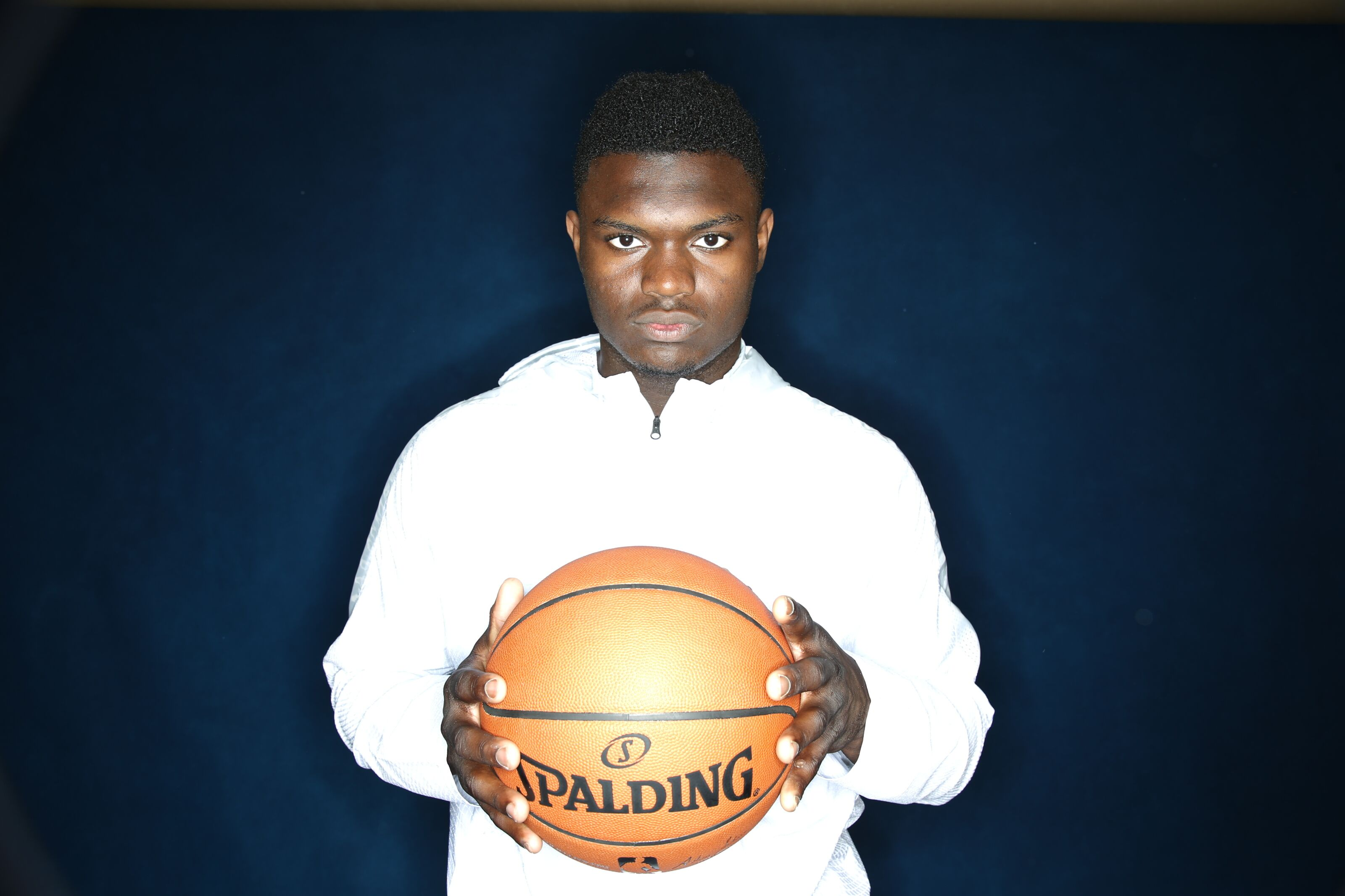 CHICAGO, IL - MAY 14: Zion Williamson poses for a portrait at the 2019 NBA Draft Combine on May 14, 2019 at the Chicago Hilton in Chicago, Illinois. NOTE TO USER: User expressly acknowledges and agrees that, by downloading and/or using this photograph, user is consenting to the terms and conditions of the Getty Images License Agreement. Mandatory Copyright Notice: Copyright 2019 NBAE (Photo by David Sherman/NBAE via Getty Images)