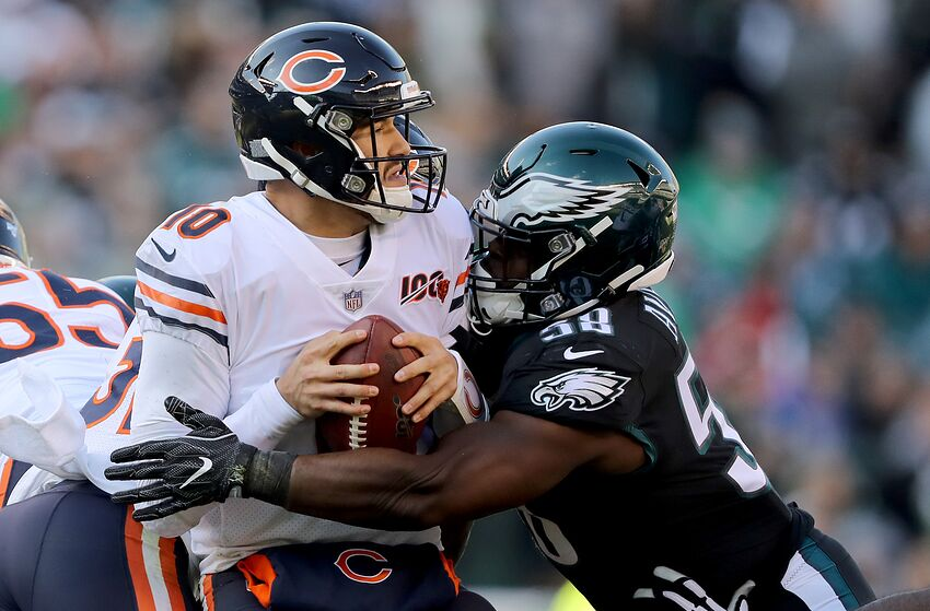 Mitchell Trubisky, Chicago Bears. (Photo by Elsa/Getty Images)