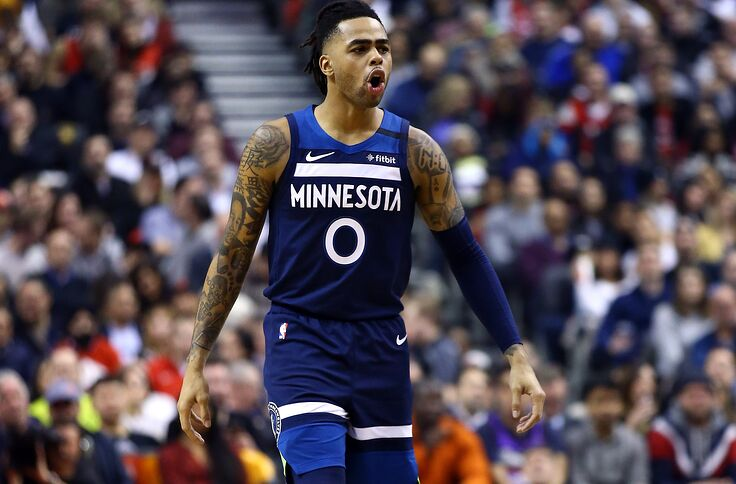 Image result for d'angelo russell timberwolves 2020