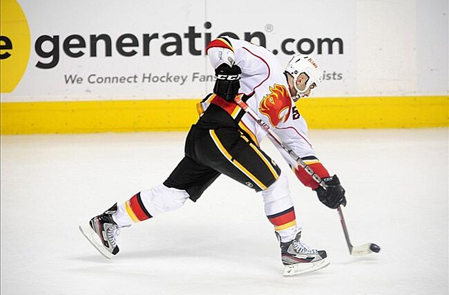 The future Captain of the Calgary Flames  Mandatory Credit  Ron Chenoy-US  PRESSWIRE 3f297111c1f3
